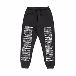 CHINATOWN MARKET STACKED LOGO SWEATPANTS