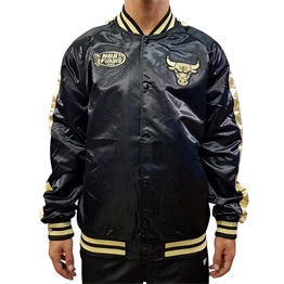 MITCHELL & NESS CHICAGO BULLS COLOR BLOCKED SATIN JACKET