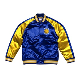 MITCHELL & NESS GOLDEN STATE WARRIORS COLOR BLOCKED SATIN JACKET