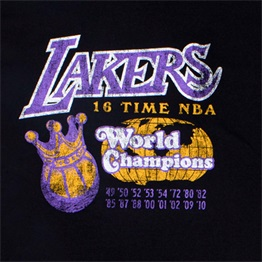 MITCHELL & NESS LOS ANGELES LAKERS 16X WORLD CHAMPIONS TEE