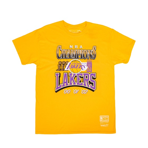 MITCHELL & NESS LOS ANGELES LAKERS 3X CHAMPIONS TEE
