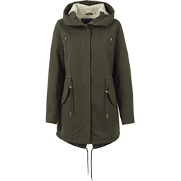 Urban Classics Ladies Sherpa Lined Cotton Parka
